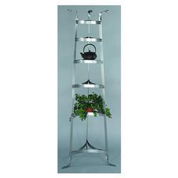 "Old Dutch 60 1/2""  Six Shelf Satin Nickel Cookware Stand"