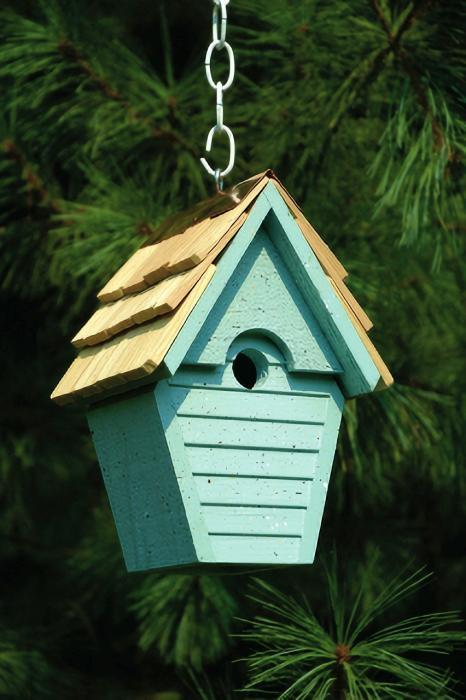 Heartwood Wren-In-The-Wind Birdhouse, Blue Eggshell