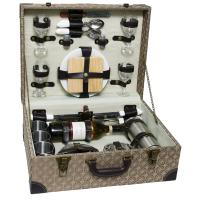 Picnic and Beyond Luxury Wooden Picnic chest for Four