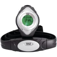 Pyle PHRM38SL Heart Rate Monitor Watch with Minimum, Average & Maximum Heart Rate (Silver)