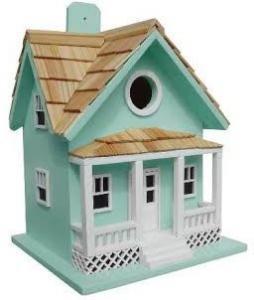 Home Bazaar Beachside Cottage Birdhouse- Seafoam Blue