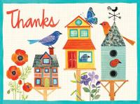 Chronicle Books Avian Friends Birdhouse Embellished Thank You Notes