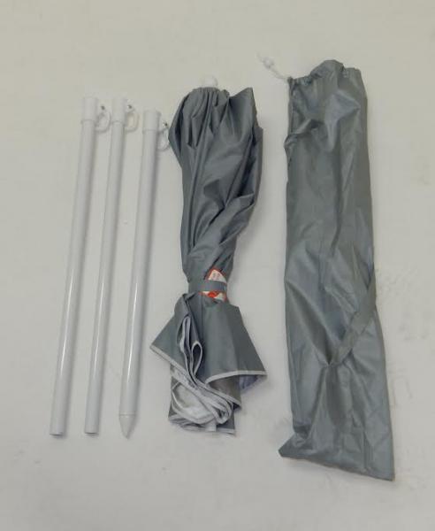 Pacific Import 5' 4 piece UV Umbrella Silver