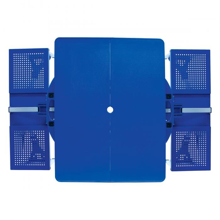 Picnic Time Picnic Table, Portable w/ 4 Seats, Royal Blue
