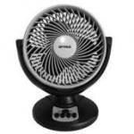 "Optimus 8"" Oscillating Turbo High Performance Air Circulator, Black/ Gray"