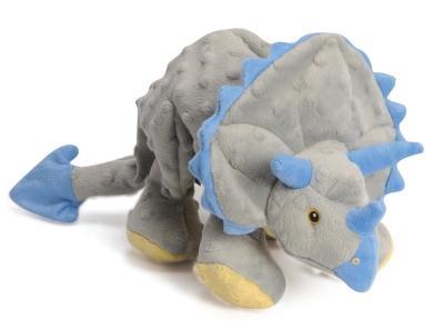 Godog Triceratops Dog Toy Grey