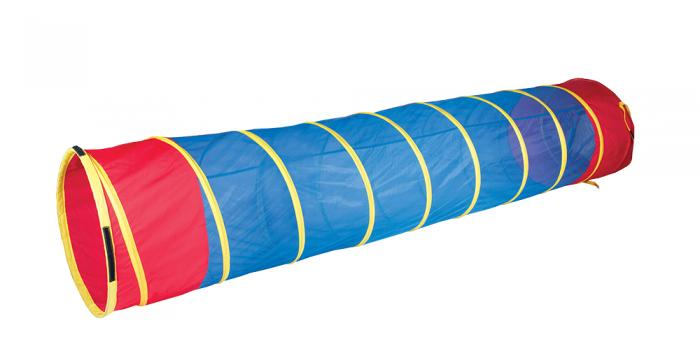 Pacific Play Tents 20517 See Thru Institutional 9Ft X 22In Tunnel- Red / Yellow / Blue