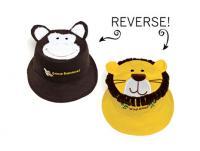 Luvali Convertibles Monkey/Lion Reversible Kids' Hat Small