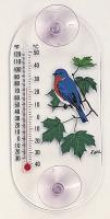 Aspects Bluebird Maple Window Thermometer