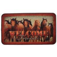 """Rivers Edge Products 18""""x30"""" Door Mat-horses"""