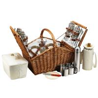 Picnic at Ascot Huntsman Basket for 4 w/coffee service -London