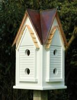 Heartwood Victorian Mansion Birdhouse, Brown Patina Roof