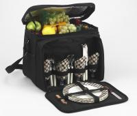 Deluxe Picnic Cooler for 4 - Black/London