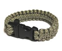 JB Outman Survival Bracelet With Whistle - Digital Camo