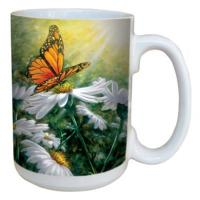 Tree Free Greetings Rays of Light Mug 15 oz