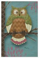 Tree Free Greetings Whimsical Owl on Blue Thank You Notes