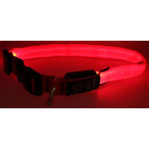 Nite-ize Night Dawg Collar, Small, Red