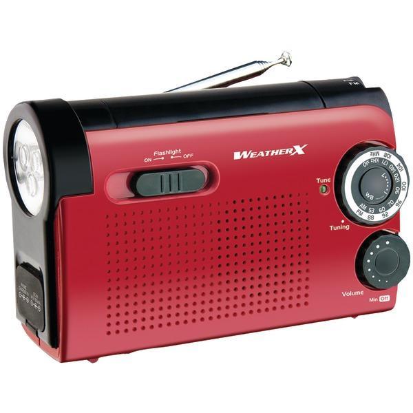 Weatherx WR182R WeatherX Flashlight with AM/FM/Weatherband Radio
