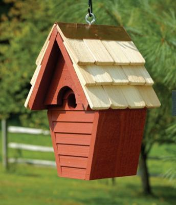 Heartwood Wren-In-The-Wind Birdhouse, Redwood