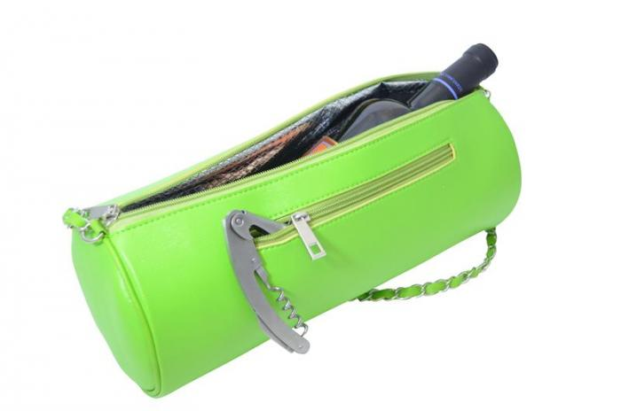 Picnic Gift - GGWP - Green Insulated Single Bottle Wine Purse