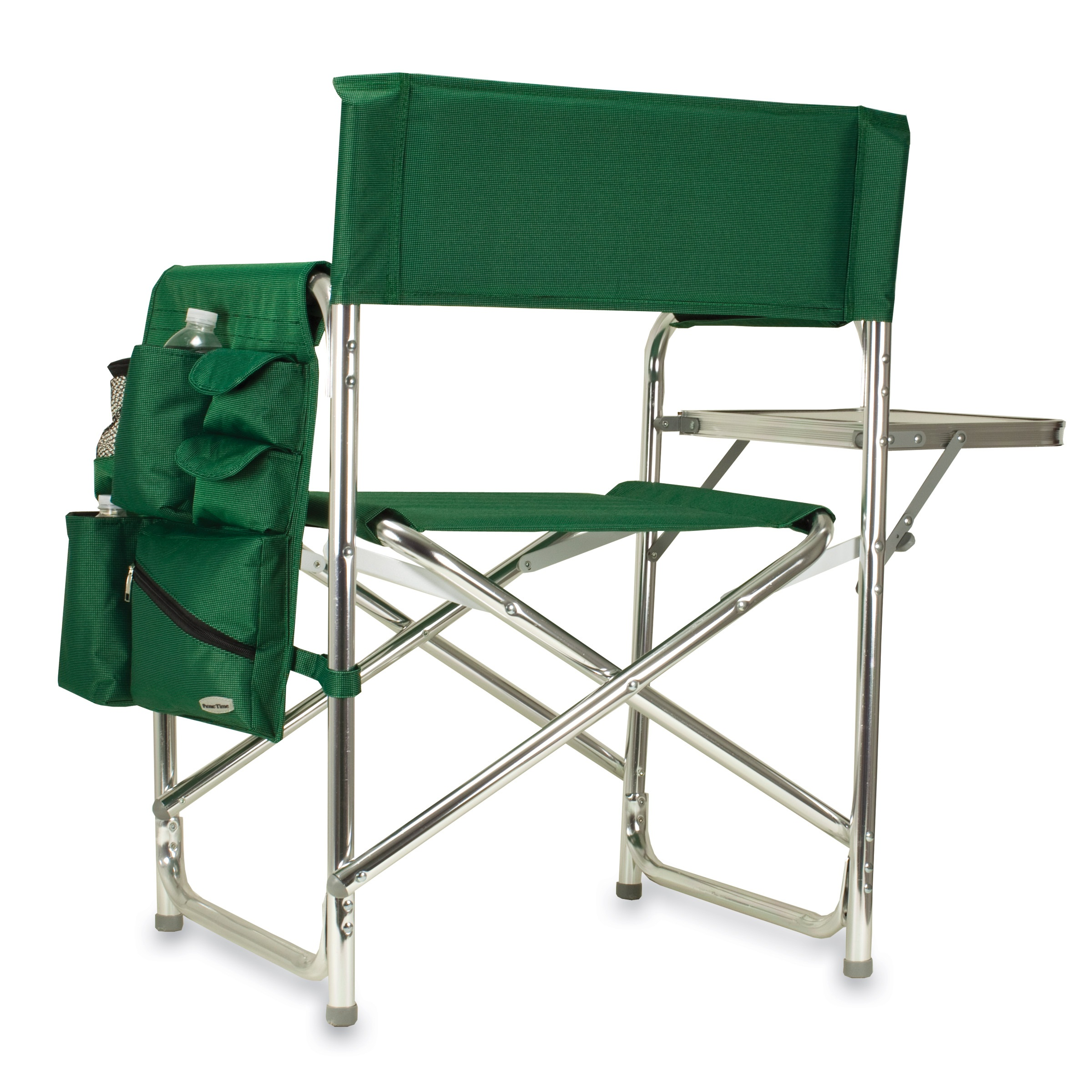 Aluminum folding chair - Picnic Time Green Portable Folding Sports Camping Chair