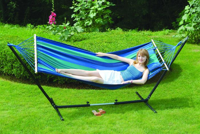 "Stansport Cayman Hammock/Stand Combo - Double -  79"" x 48"""