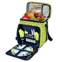 Picnic at Ascot Picnic Basket/Cooler Equipped for 2 -Black/Paris