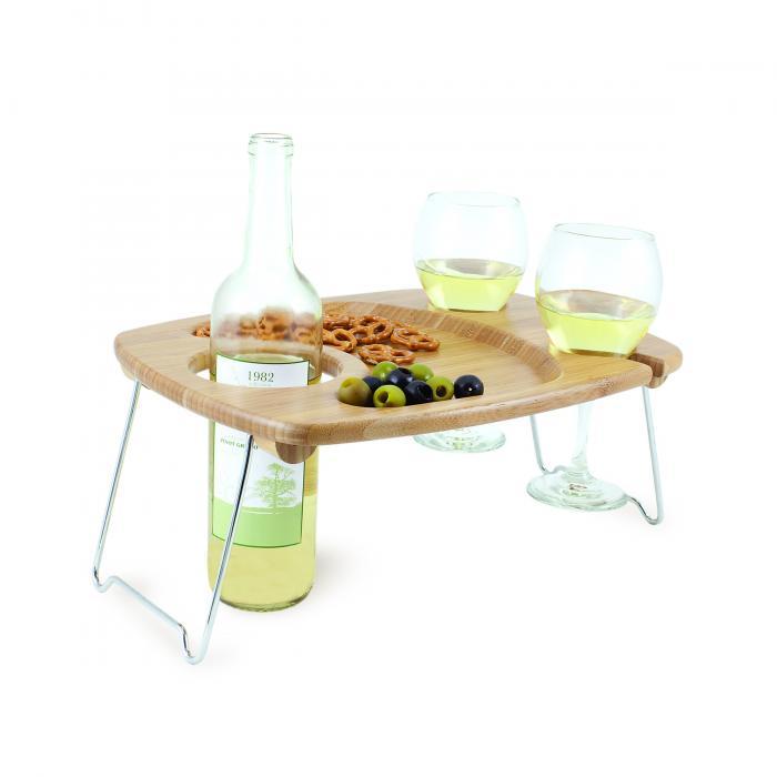 Picnic Time Mesavino Bamboo Wine Tray