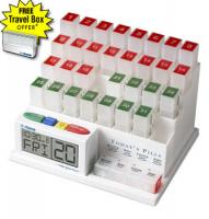 MedCenter 70265 31 Day Monthly Pill Organizer and Talking Pill Reminder System
