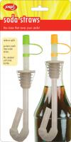 Jokari Soda Straws for Bottles, 2 Pk
