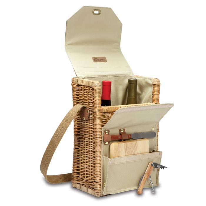 Picnic Time Corsica Insulated Wine and Cheese Basket