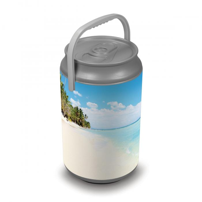 Picnic Time Extra Large Insulated Mega Can Cooler, Beach Scene Can