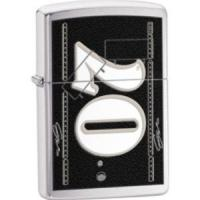 Zippo Casey Mears- Brushed Chrome