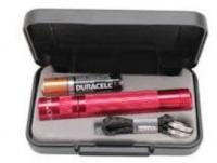 MagLite LED Solitaire 1AAA Flashlight Red