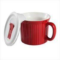 CorningWare French White Pop-Ins 20-ounce Mug (Tomato)