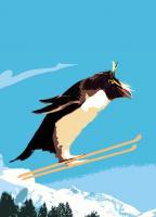 Tree Free Greetings Penguin Jump Birthday
