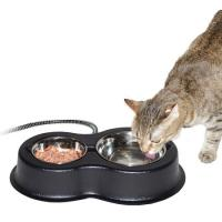 K&M Manufacturing Thermo-Kitty Cafe Heated Bowl