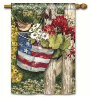 Magnet Works Patriotic Pail Standard Flag