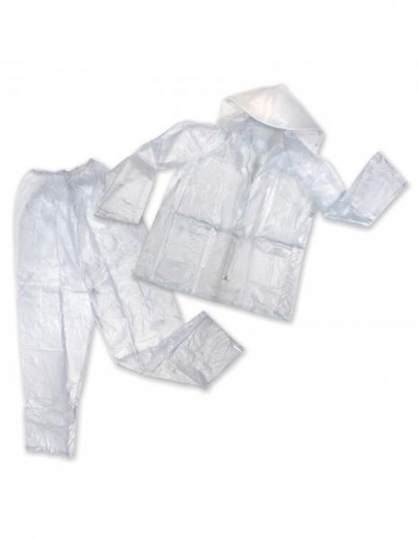 Stansport Mens Vinyl Rainsuit - Clear - M