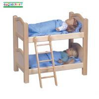 Guidecraft Oversized Doll Bunk Bed, Natural