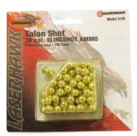 Marksman Laserhawk .30cal Gold Steel Shot Slingshot Ammo (150)