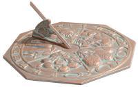 Butterfly Sundial - Copper Verdi