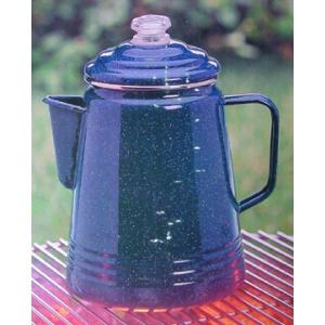 Coleman Coffee Percolator, Enamel, Blue, Double Coated, 14 Cup