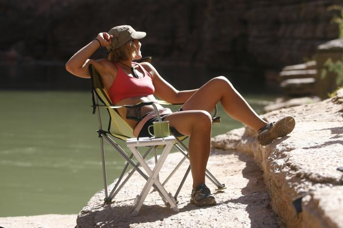 Travel Chair Side Aluminum Canyon Camping Table