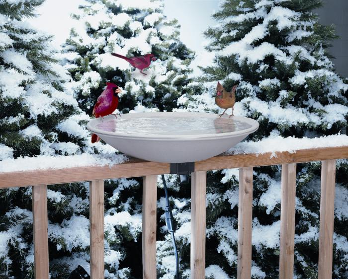 Allied Precision Deck Mounted Heated Bird Bath