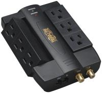 Tripplite HTSWIVEL6 6-Outlet Surge Protector with Coaxial and Telephone Protection