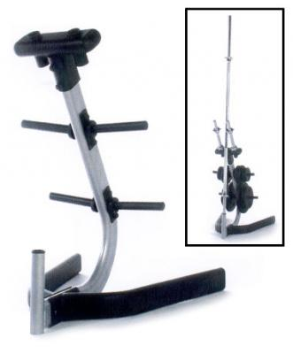 Cap Barbell Standard Plate Rack with Bar and Dumbbell Holders