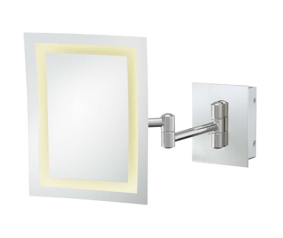 Kimball Amp Young Led Rectangular Wall Mirror Chrome