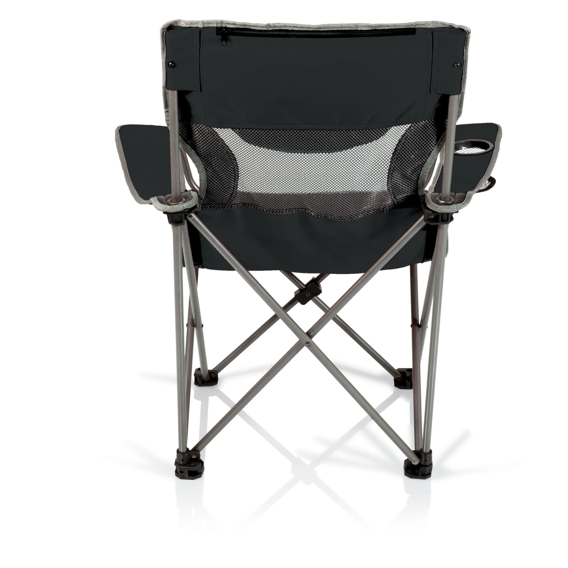 Picnic Time Campsite Folding Camp Chair Black Grey