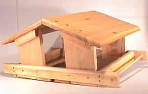 House / Hopper Bird Feeders by Songbird Cedar